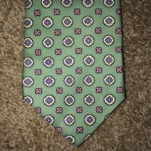 👋SALE👋 Ralph Lauren Green Pink Silk Tie
